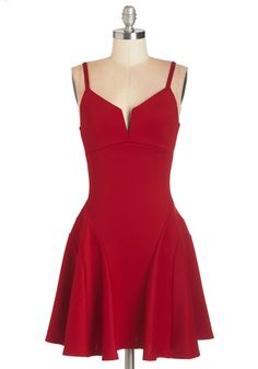 Date Night Dresses - Take it from the Top-Notch Dress in Red