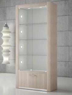 QUADRATUM : - Contemporary display case / with legs / wooden / glass by Italvetrine Sofa Design, Furniture Design, Interior Design, Furniture Plans, Kids Furniture, Cupboard Design, Shelf Design, Crockery Cabinet, Pharmacy Design