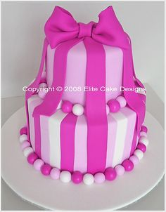 Hot Pink Bow Birthday Cake, 21st Birthday Cakes Sydney, 21st Birthday Cakes, Novelty Cakes, Birthday Cake Designs, Fancy Dress Party cake
