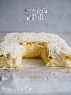Best Fluffy Vanilla Slice @ Not Quite Nigella