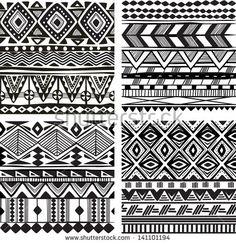 Textura sem emenda tribal