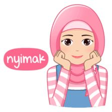 This hijab girl is beautiful, cute, nice, friendly and happy Emoji People, Islamic Cartoon, Anime Muslim, Hijab Cartoon, Line Store, Line Sticker, Funny Faces, Diana, Love Quotes