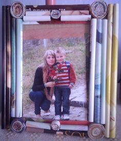 magazine recycled photo frame