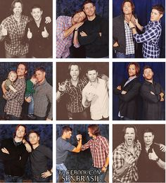 Jared Padalecki and Jensen Ackles! The one with them holding their kids is my favorite :)