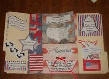 """Independence Day Lapbook """" Penny's Fourth of July"""" showing all of the symbols of the U.S."""