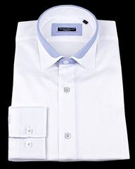 White slim fit dress shirt by French designer Franck Michel.$129.00