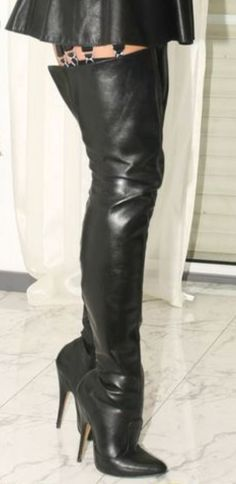 Thigh High Boots Heels, Hot High Heels, Heeled Boots, Nylons Heels, Stiletto Heels, Crotch Boots, High Leather Boots, Sexy Boots, Leather Fashion