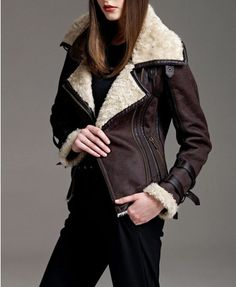 burberry shearling leather jacket