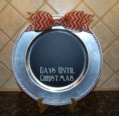 Christmas+Charger+Plate+Countdown+Days+Until+by+ElevateYourDecor,+$16.00