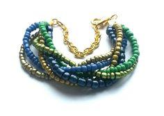 Handmade bracelet created from sand beads.