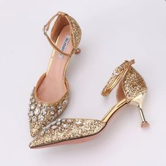 Cheap High Heels, Low Heels, Comfortable High Heels, Wedding Shoes Heels, Princess Shoes, Bling Shoes, Gladiator Heels, Sandals Outfit, Gold Fashion