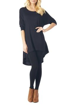 Women'S Rayon Span High & Low Tunic with 3/4 Sleeves - Solid           ($18.95) http://www.amazon.com/exec/obidos/ASIN/B00H2SU5ZI/hpb2-20/ASIN/B00H2SU5ZI It is tight under one arm and not the other. - If you like your clothes to fit snug go one size smaller. - The only thing is there was a hole under the armpit.