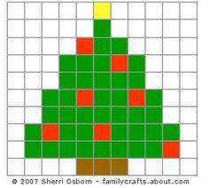 Christmas Tree Design - Christmas Beaded Safety Pin Pattern