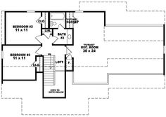 Traditional House Plan Second Floor 087D-0289  from houseplansandmore.com