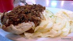 TURISCURIOSA EN USA: DÍA 10. PRINCETON Y FILADELFIA, LA CIUDAD QUE ME CONQUISTÓ. Philly cheesesteak: el famoso bocadillo de carne de Filadelfia.