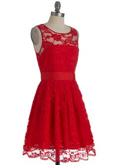 They have it in black too! So cute! BB Dakota When the Night Comes Dress in Red   Mod Retro Vintage Dresses   ModCloth.com #modcloth #partydress
