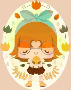 Flower Power! Cute illustration by www.Buttercrumble.com ♥