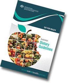 An illustrative image of the Australian Dietary Guidelines publication cover.