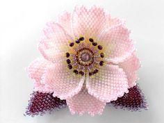 Pale pink mini cherry beads corsage