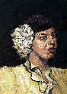 Protrait paintings of Leslie Margolis - Lady de Fleur