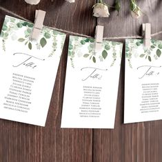 Greenery Seating Chart Template, Editable Seating Cards, Wedding Seating Chart Template, Seating Chart Sign, Instant Download Templett G021
