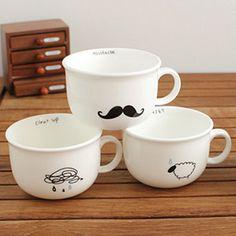 Ceramic Cartoon Drawing Mugs