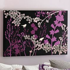 Graphic Meadow Canvas Wall Art #pbteen