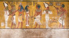 Inside the Tomb of TutankhamunA scene from the north wall of...