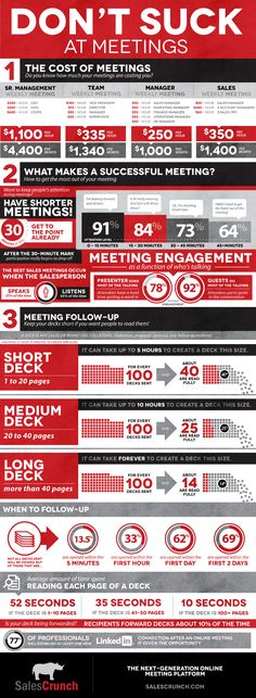 Don't suck at meetings  #infographic #business #meetings