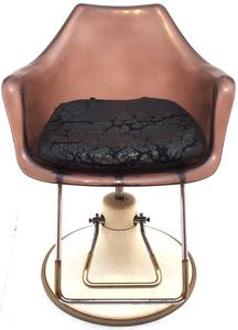 Vintage 50s Swivel Chairs Retro Atomic Barber Hairdresser Salon Eames