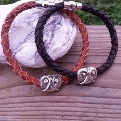Owl Leather Bracelet