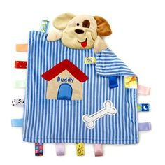 Taggies Peek A Boo Buddy The Dog Blue Striped Security Blanket Plush Lovey Baby Comforter, Baby Nursery Bedding, Boo And Buddy, Toddler Development, Security Blanket, Peek A Boos, Diy For Kids, Baby Love, Kids Playing