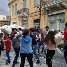 Today in Nicosia! Pillow-fight! #pillow #pillowfight #pillowfightday #nicosiacity