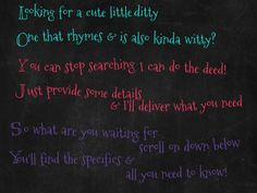 write a rhyming poem based on info you provide by kboston
