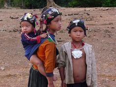 Laos, hill tribe children