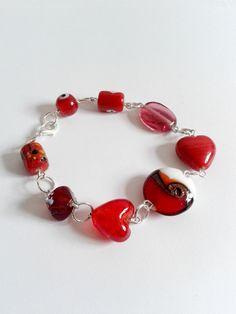 Beaded Bracelets Red   home bracelets and bangles lipstick red glass beaded bracelet
