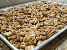 Cinnamon-roasted pecans