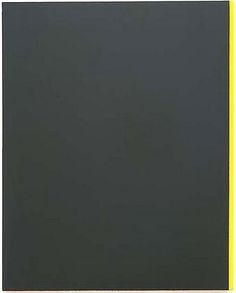 Barnett Newman's painting, 'Yellow Edge' (1968), 93.75 x 76 inches, National Gallery of Canada, Ottawa