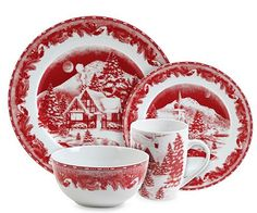 Stylish Christmas Dinnerware Sets for the Holidays