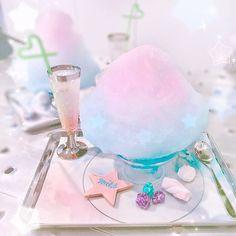Candy Drinks, Yummy Drinks, Yummy Food, Aesthetic Food, Pink Aesthetic, Kreative Desserts, Kawaii Dessert, Unicorn Foods, Bon Dessert