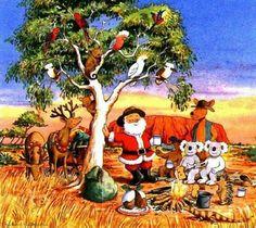 Australian Christmas wishes Aussie Christmas, Australian Christmas, Summer Christmas, Christmas Past, A Christmas Story, Christmas Wishes, Christmas Pictures, All Things Christmas, Vintage Christmas