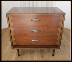 Vintage 60s Mid Century Modern Lane Acclaim Walnut by MilosModern, $449.95