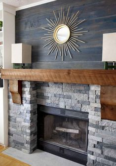 15 Best Fireplace Ideas I've compiled 15 budget-friendly fireplace ideas to inspire our own dramatic DIY fireplace transformation. Help me pick a favorite! Brick Fireplace Wall, Brick Fireplace Makeover, Home Fireplace, Fireplace Remodel, Living Room With Fireplace, Fireplace Surrounds, Fireplace Design, Fireplace Ideas, Fireplace Decorations