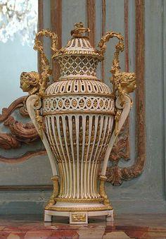 French Ivory and gilt bronze vase 1786.
