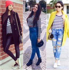 Inspirações de looks com Blusa Listrada    por Fernanda Pereira   Hey Fashion       - http://modatrade.com.br/inspira-es-de-looks-com-blusa-listrada