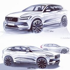 Volvo Xc60, Car Design Sketch, Car Sketch, Design Autos, Car Drawings, Car Painting, Transportation Design, Car Wallpapers, Automotive Design