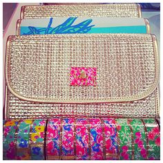 Lilly Pulitzer Spring Fling Clutch and Photodome Bangles