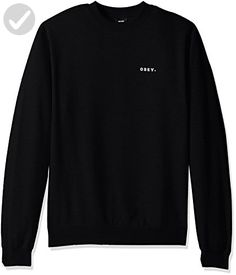 OBEY Men's Underground Worldwide Crew Neck Fleece Sweatshirt, Black, X-Large - Mens world (*Amazon Partner-Link)