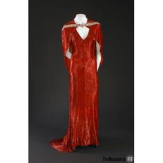 "Red bugle bead pavé on silk crepe Date: 1937 ""The Bride Wore Red."" - absolutely gorgeous"