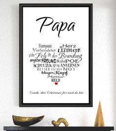 """Originaldruck - Kunstdruck """"PAPA"""" - ein Designerstück von Cleoni bei DaWanda"""